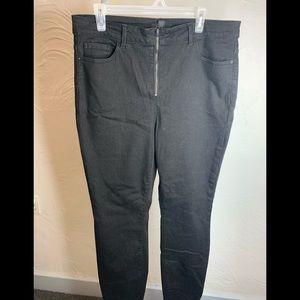 Womens Forever21 Plus Black Stretch Jeans Sz. 14